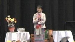 Aung San Suu Kyi Visits Burmese Community in Indiana