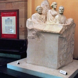 File photo of Capitol Hill's memorial statue of pioneers of the women's suffrage movement. The statue features (L-R) Elizabeth Cady Stanton, Susan B. Anthoy and Lucretia Mott (File)