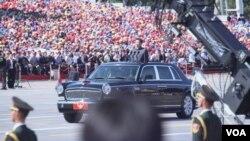 9月3日,北京举行盛大抗战阅兵(美国之音东方拍摄)