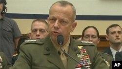 Đại tướng Thủy quân lục chiến Hoa Kỳ John Allen điều trần trước Quốc hội