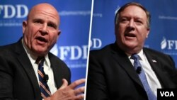 مایک پمپئو و آچ آر مک مستر در دو سخنرانی جداگانه دیدگاه خود را درباره ایران و مسائل خاورمیانه بیان کردند.