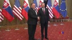 2019-02-12 美國之音視頻新聞: 蓬佩奧訪問斯洛伐克敦促抵禦中俄掠奪性投資及影 響