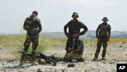 Binh sĩ Quân đội Quốc gia Afghanistan ở huyện Khogyani, tỉnh Nangarhar. (Ảnh tư liệu)
