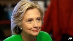 Democratic presidential candidate Hillary Rodham Clinton, April 14, 2015.