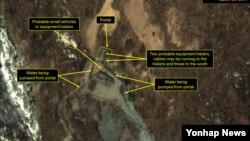 미국 존스홉킨스대 한미 연구소의 북한 전문 웹사이트 '38노스'가 지난해 3월 촬영한 풍계리 핵실험장 위성사진.