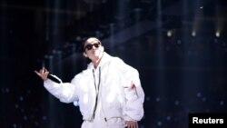 Ca sĩ nhạc rap của Trung Quốc có nghệ danh GAI biểu diễn ở Quảng Châu, tỉnh Quảng Đông, hôm 31/12/2017.