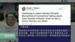 VOA连线:川普乐见制裁朝鲜,与参议员因通俄门交锋