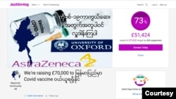 Donation website of UK Myanmar