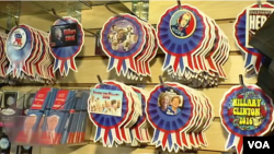 Campaign related items related to this year's presidential candidates have been hot sellers in Washington D.C. (VOA)