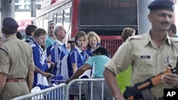 سکاٹ لینڈ کی ٹیم کے بعض اعضا، کامن ویلتھ گیمز میں شرکت کے لیے دہلی پہنچے ہیں