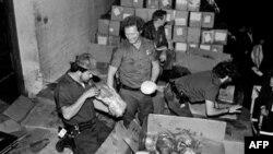 Склад кокаина, конфискованный службой США в Майами
