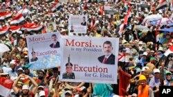 開羅有成千上萬的穆爾西支持者響應穆斯林兄弟會的號召上街,要求恢復其總統的職位。