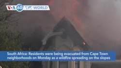 VOA60 World - South Africa: Table Mountain blaze forces evacuations