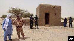 Một lăng mộ đã được phục hồi ở Timbuktu, Mali, 18/7/2015.