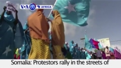 VOA60 Africa - Somalia: Protesters rally against Kenya's role in a maritime dispute