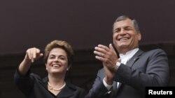 El presidente de Ecuador, Rafael Correa, considera que su homóloga Dilma Rouseff y Luiz Inacio Lula da Silva son inocentes y que acusarlos de corrupción es la única manera de sacarlos del camino.