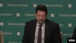 مایکل پریجنت تحلیلگر ارشد مؤسسه هادسن در نشستی درباره تروریستی اعلام کردن سپاه پاسداران توسط آمریکا