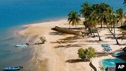 肯尼亚一个度假地曼达岛