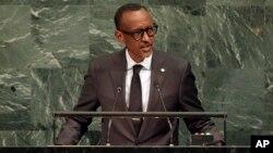 Paul Kagame, lors de l'Assemblée générale des Nations Unies au siège de l'ONU, le 20 septembre 2017.