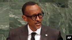 Le président Paul Kagame du Rwanda lors de son discours devant la 71e Assemblée générale des Nations unies, à New York, 20 septembre 2017.