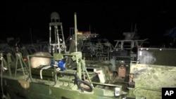 被扣美國海軍巡邏艇