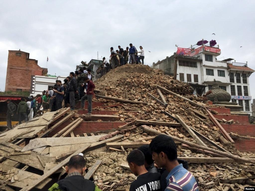 Quake Leaves Swath of Destruction in Kathmandu