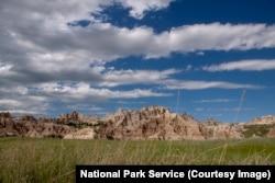 The big sky at Badlands National Park