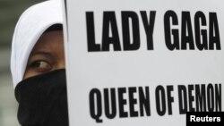 Протест против выступления Леди Гага в Джакарте, Индонезия