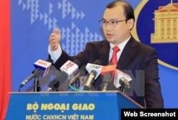 Phát ngôn viên Lê Hải Bình tái khẳng định chủ quyền 'không thể tranh cãi' của Việt Nam đối với quần đảo Hoàng Sa và Trường Sa.