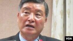 台灣國防部長高華柱(美國之音 張永泰拍摄)