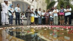 از ديوار يادبود قربانيان انفجار بالی در استراليا پرده برداری شد