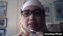 Tangkapan layar Komisioner KPAI Bidang Pendidikan Retno Listyarti saat menggelar konferensi video soal pengaduan pembelajaran jarak jauh pada Senin, 13 April 2020. Dokumentasi KPAI
