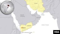 伊朗與也門地理位置圖