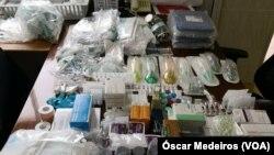 Medicamentos e consumíveis, Hospital Ayres Menezes, São Tomé e Príncipe