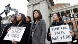 Virus Outbreak Asian Americans Protest