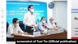 Chủ tịch UBND Tp.HCM Phan Văn Mãi phát biểu trong cuộc họp báo hôm 13/9/2021.