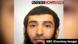 Sayfullo Saipov, el atacante de la ciclovía de Nueva York. Foto cortesía de ABC.