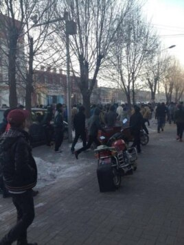 Students protested China's denouncement of self-immolators, Chabcha, Hainan, China, November 26, 2012.