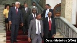 Les dirigeants des partis d'opposition de Sao Tomé et Principe.