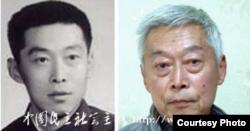 青年时代的王小宁和如今的王小宁 (网络照片)