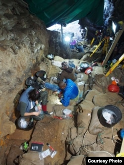 Excavations at Pinnacle Point Site PP5-6 in South Africa. (Photo Courtesy Curtis W. Marean/Arizona State University)