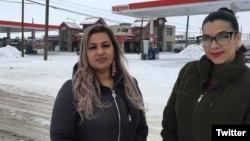 美国蒙塔纳州居民素达和赫尔曼德斯在一家便利店里说西班牙语后被一名移民及边境保护局的特工拘留。