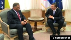 Srpski član Predstavništva BiH Mladen Ivanić i premijer Srbije Aleksandar Vučić