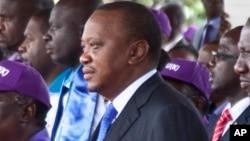 Le président Uhuru Kenyatta du Kenya, 1er mai 2017.
