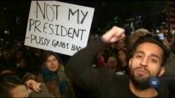 Тисячі американців, які не можуть змиритися з перемогою Дональда Трампа, протестують по всій країні. Відео