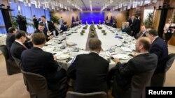 Para pemimpin Uni Eropa menghadiri pertemuan puncak di Brussels, Belgia hari Jumat (15/12).