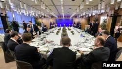 歐盟成員國領導人在布魯塞爾舉行峰會