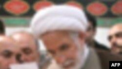Tehranda Mehdi Kərrubinin evi qarşısında nümayiş keçirilib