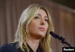 Maria Sharapova announces that she failed a drug test at the Australian Open, during a news conference in Los Angeles, March 7, 2016. (J. Kamin-Oncea/USA Today Sports)