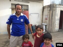 Sabhan, 35, and his family stayed in their Mosul neighborhood when the rest of the residents fled. He says he could not move his elderly mother, but now with the threat of starvation and no clean water, he is considering bringing them to a camp, May 4, 2017.